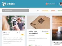 Shneebs Web App Concept