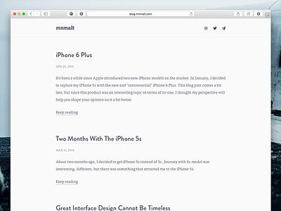 Blog Update web ui user interface clean minimal blog articles simple typography