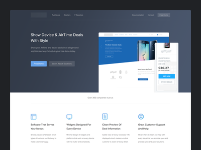 Home Page ux ui icons mobile digital web design landing page user interface web home