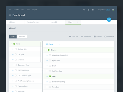Dashboard Concept 0.1 tabor concept toolbar tables web app web visual design user interface ui dashboard