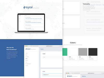 Web Guidelines buttons typography colors toptal user interface case study ui web guidelines