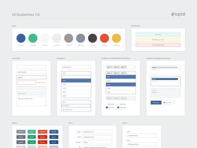 UI Guidelines 1.0 user interface guidelines inputs forms buttons dropdowns colors app web guidelines ui kit user interface ui