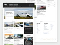 EVO Home Concept cards visual design web design user interface posts article blog magazine evo ui website web