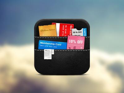 Wallet icon wallet icon store ios iphone ipad retina mobile ios icon app ticket pass coupon