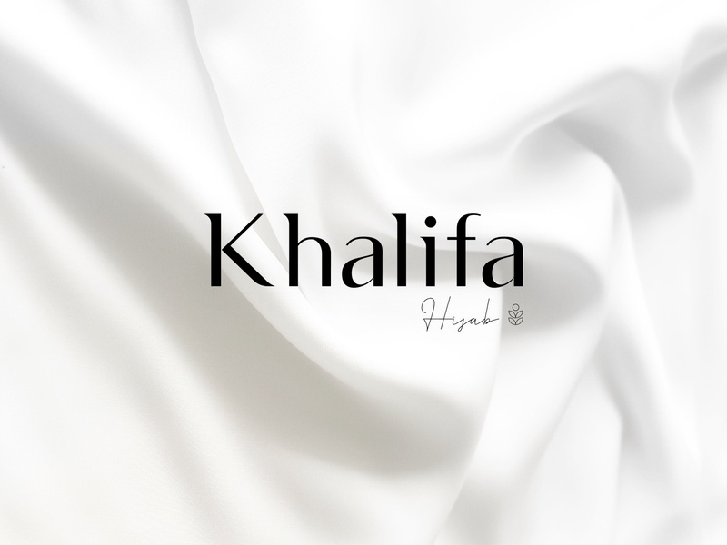 Khalifa Hijab 🧕🏻 typography flat branding design vector desktop application logo icon illustration