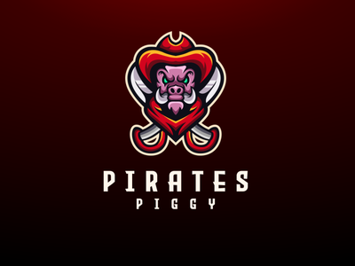 pig animal mascot character mascot design mascot logo pirates piggy illustration endr animal logo branding vector design logo