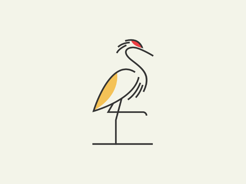 Flamingo bird logo animal logo simple logo monoline illustration design logo flamingo design bird  creative