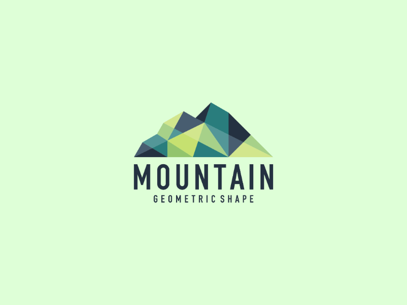 Mountain nature landscape mountain logo colourful abstract geometric mointain design logo