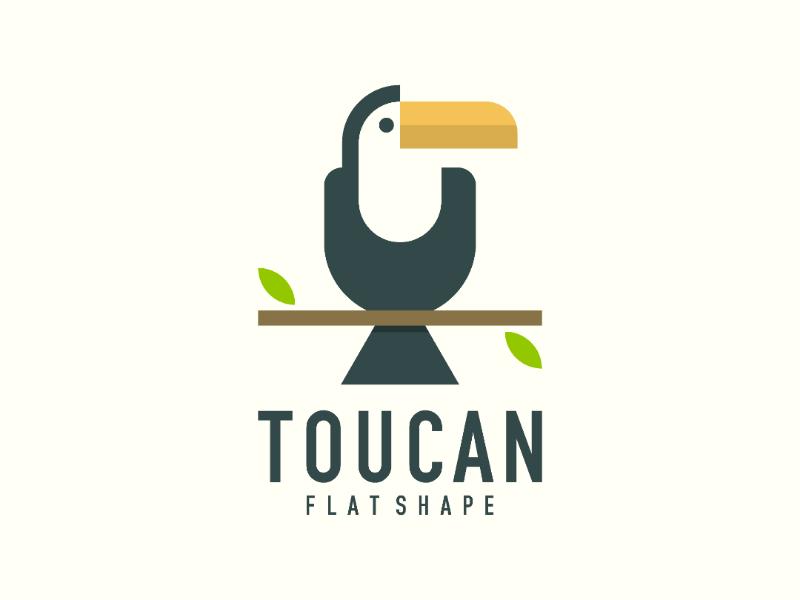 Toucan 2019 endr wildlife trending modern flat toucan animal bird logo design logo