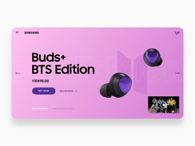 Buds BTS Edition Website Concept product design branding webdesign ui ui  ux
