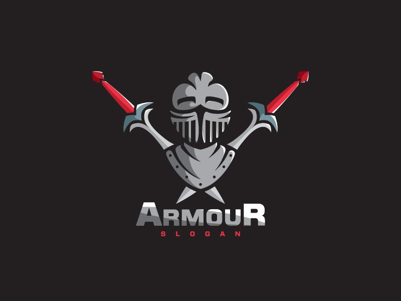 armour logo design illustration by shalabh singh dribbble dribbble