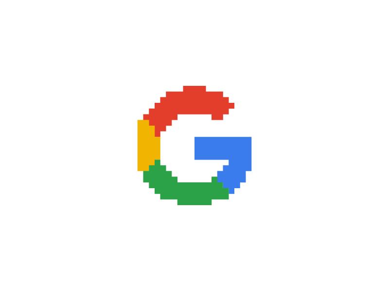 Google - Everyday Pixel Art Logo by Shalabh Singh on Dribbble