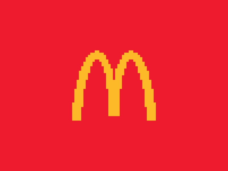 Mcdonalds Everyday Pixel Art Logo By Shalabh Singh On