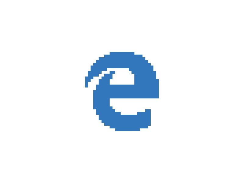 Microsoft Edge Everyday Pixel Art Logo By Shalabh Singh