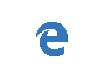 Microsoft Edge - Everyday Pixel Art Logo