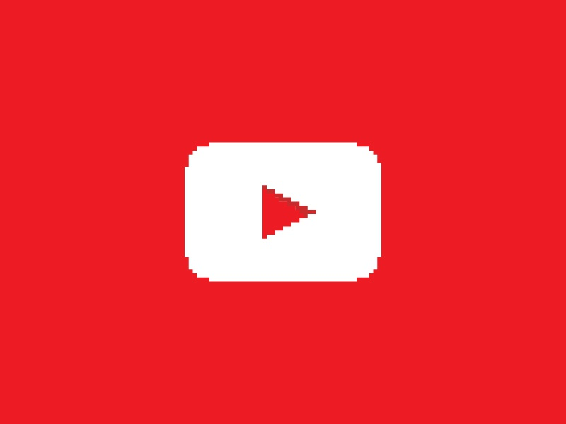 27. youtube   pixel art logo