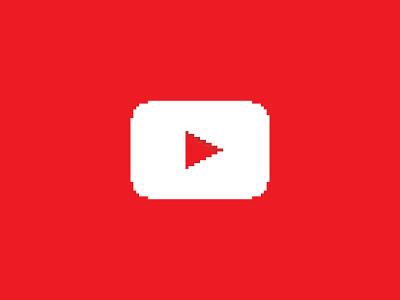 YouTube - Everyday Pixel Art Logo logo design logo design youtube pixel pixel art logos minimal minimalist minimalism video google