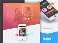 Tinder - Landing Page Redesign