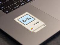 Hello Mac sticker