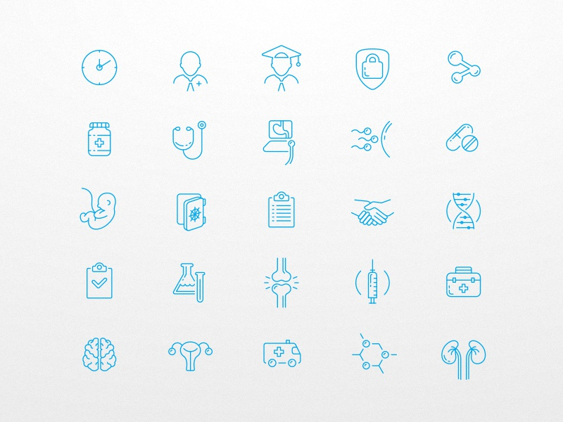 Medical Icons Pack (part 1) vector stroke simple outline line icon icons clinic healthcare health medic medical