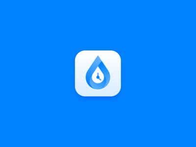 """Water Reminder"" ios app icon"