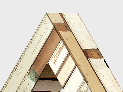 Another impossible (penrose) triangle piet skeuomorphism triangle penrose wood another agency