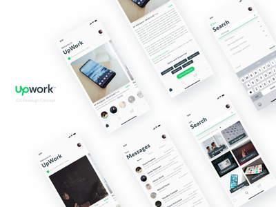 UpWork Redesign Concept clean minimal sketch app iphone x ios iphone freelance redesign upwork