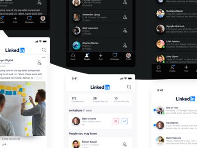 LinkedIn Redesign – iOS