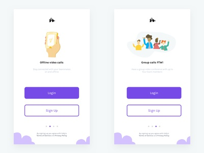 Vidly - Onboarding Screens sign up mobile login video icons illustration minimal ios onboarding