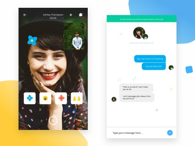 Vidly - Video Chat & Messaging visual design video chat video illustrations stickers ios mobile chat messaging
