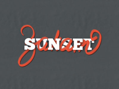 Sunset закат calligraphy lettering sunset