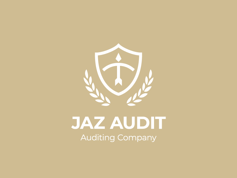 JAZ AUDIT company auditing audit branding vector design geometry shift kyrgyzstan logo
