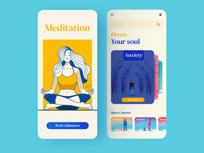 Daily UI - 07 app ui depression anxiety yoga meditation mobile app design mobile app app design ux ui