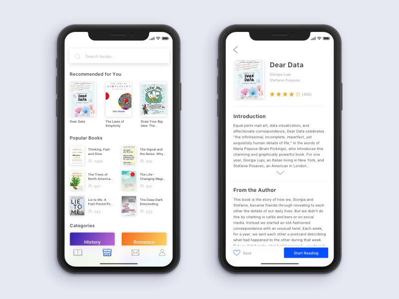 Reading App Prototype prototype reading books app mobile