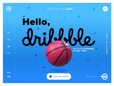 My first Dribbble Shot. Hello, Dribbble! follow me hellodribbble community dribbble webdesign ui ux design firstshot