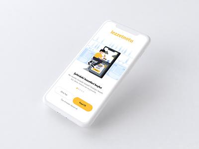 Lezzetnotu mobile design website app vector ux ui illustration onboarding ui onboarding