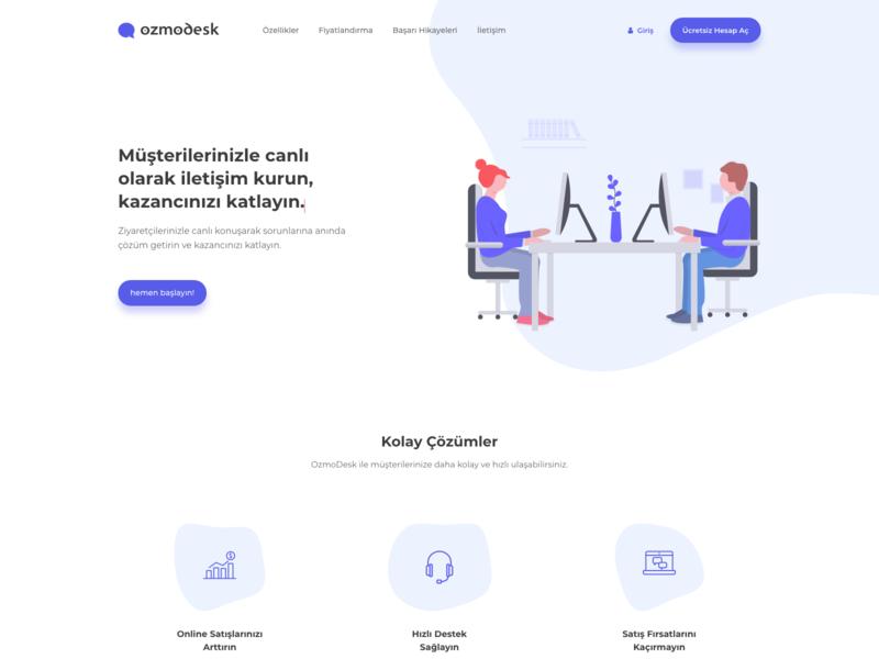 ozmodesk vector web illustration site website
