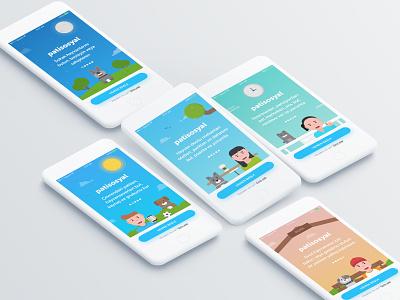 patisosyal ui ux illustration mobile app pet app pet pati