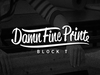 Damn Fine Print New Logo