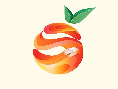 Orange Splash energy drink beverage nutritious calcium vitamin c fresh orange juice liquid water health healthy juice fruit orange colorful vector logo branding gradient