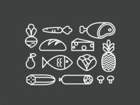 Grocery Bag Icons