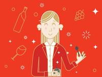 Wine To Eat - Girl Character