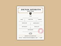 Denis Spirits Label