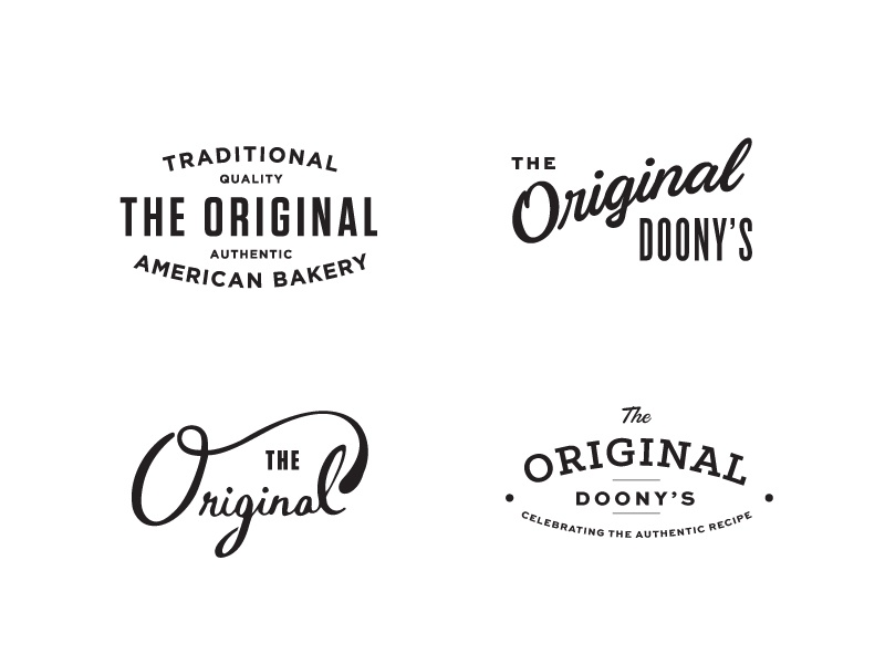 The Original I re-branding traditional original american bakery logos logo belgian belgium doughnuts branding