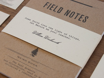 Wild Wood - Field Notes field notes texture stationary logo branding quote discovery nature adventure vintage wood wildwood