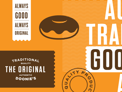 The Original - Packaging I tasty good doonies logo pattern traditional original layout packaging doughnuts