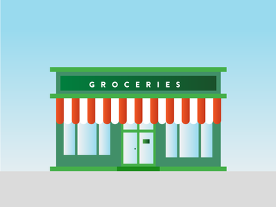 Groceries Shop delivery shopping gradient instacart shop grocery groceries illustration