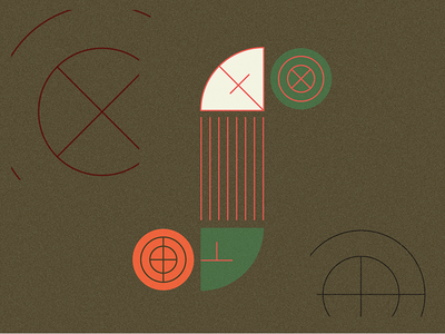 S of something s bege orange green brown layout branding