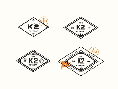 K2 Retreat icons logos instacart map orange design logo branding retreat k2