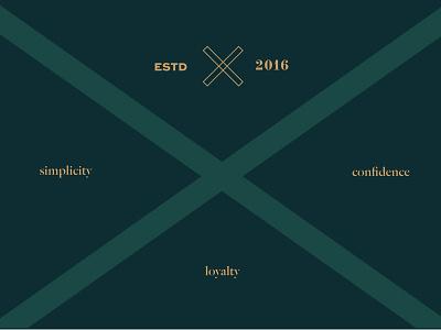 Basterfield II ested gold green cross tags identity layout logo branding basterfield